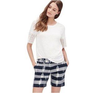 Ann Taylor LOFT Ikat 100% cotton shorts